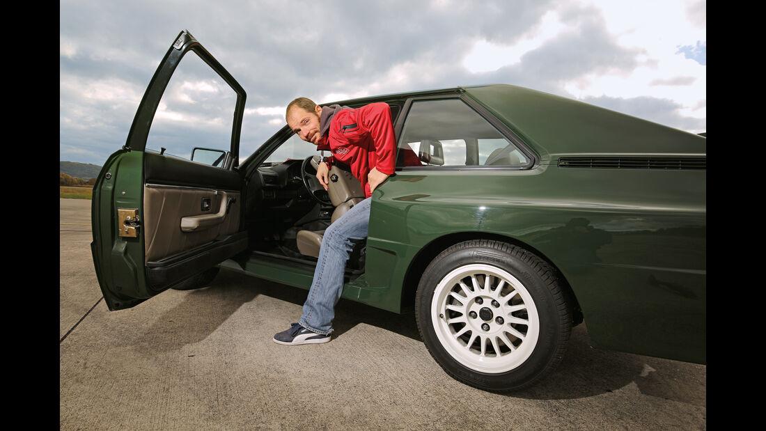 Audi Sport Quattro, Aussteigen, Fondsitz