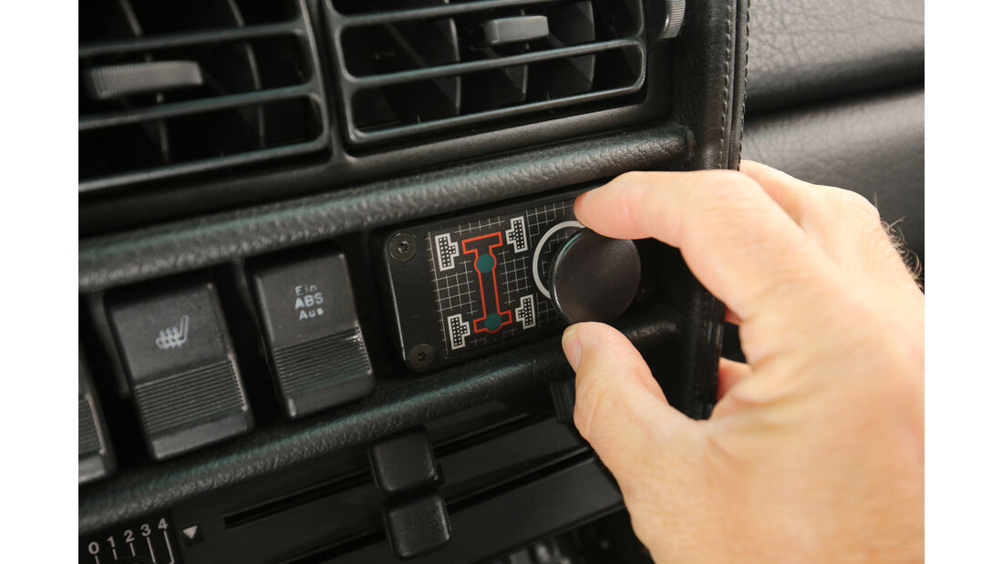 Audi Sport Quattro, Bedienelemente