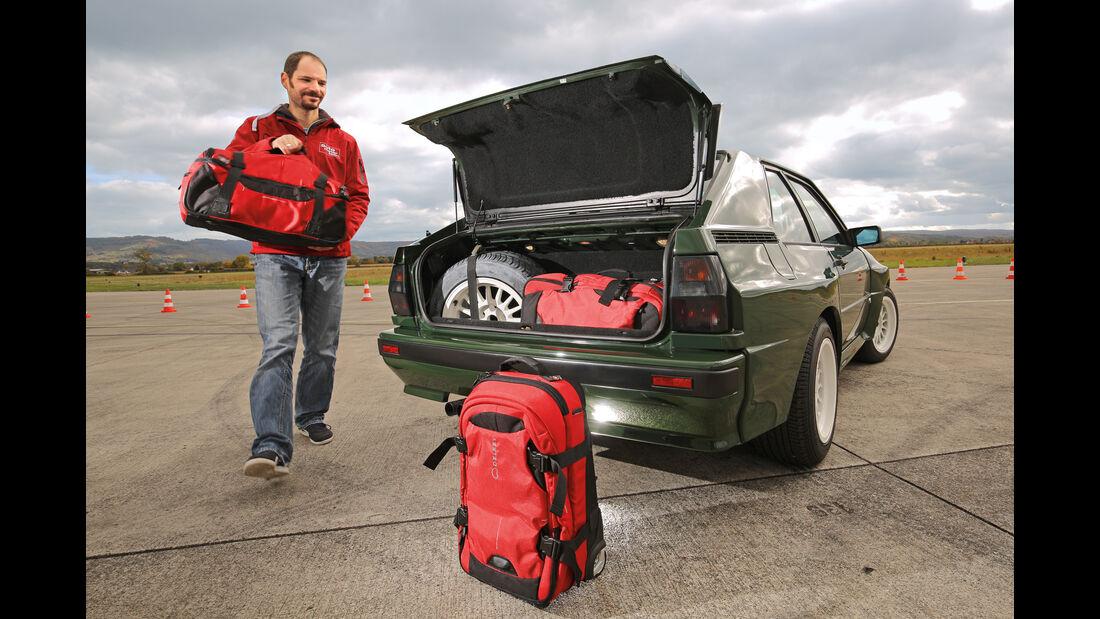Audi Sport Quattro, Kofferraum
