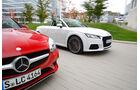 Audi TT 2.0 TDI Ultra, Mercedes SLC 250 d, Frontansicht