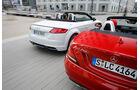 Audi TT 2.0 TDI Ultra, Mercedes SLC 250 d, Heckansicht