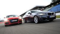 Audi TT 2.0 TFSI Quattro, BMW 228i Coupé, Frontansicht