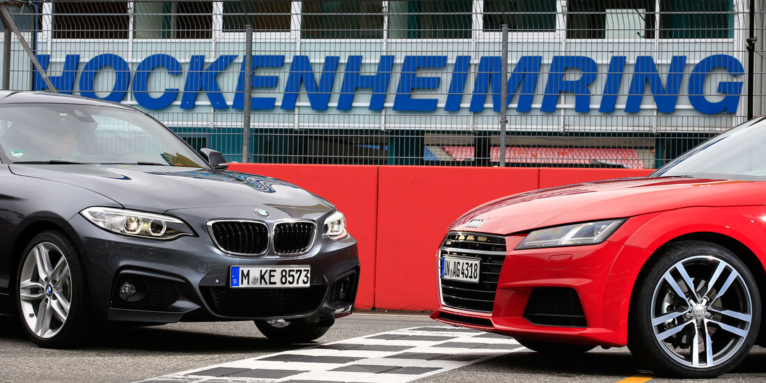 Audi TT 2.0 TFSI Quattro, BMW 228i Coupé, Hockenheim