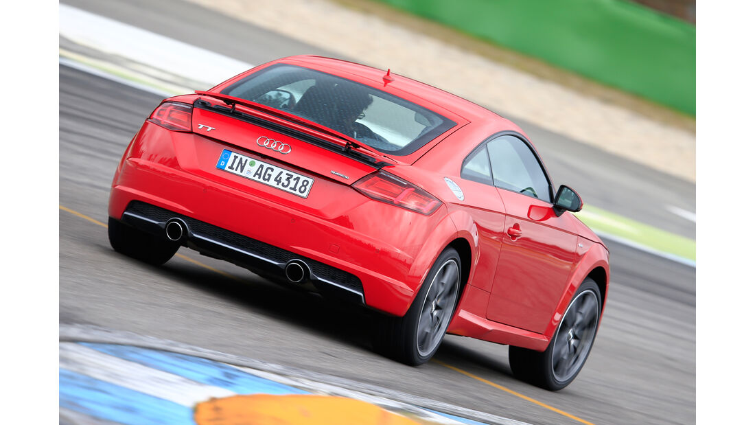 Audi TT 2.0 TFSI Quattro, Heckansicht