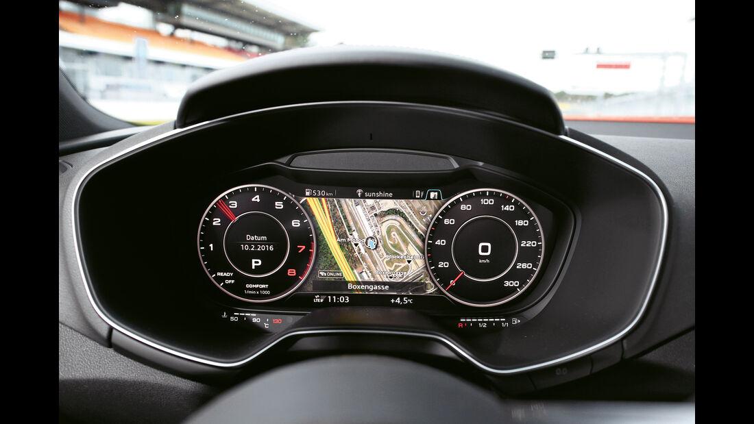 Audi TT 2.0 TFSI Quattro, Rundinstrumente