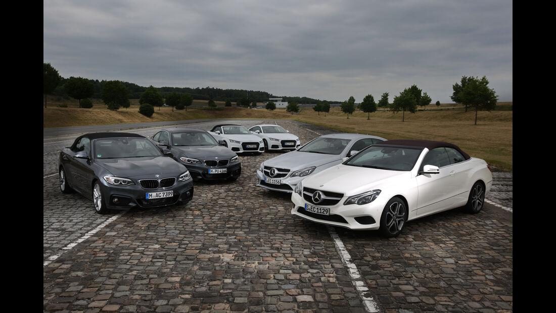 Audi TT, BMW 220d, Mercedes E 400, Karosseriekonzept