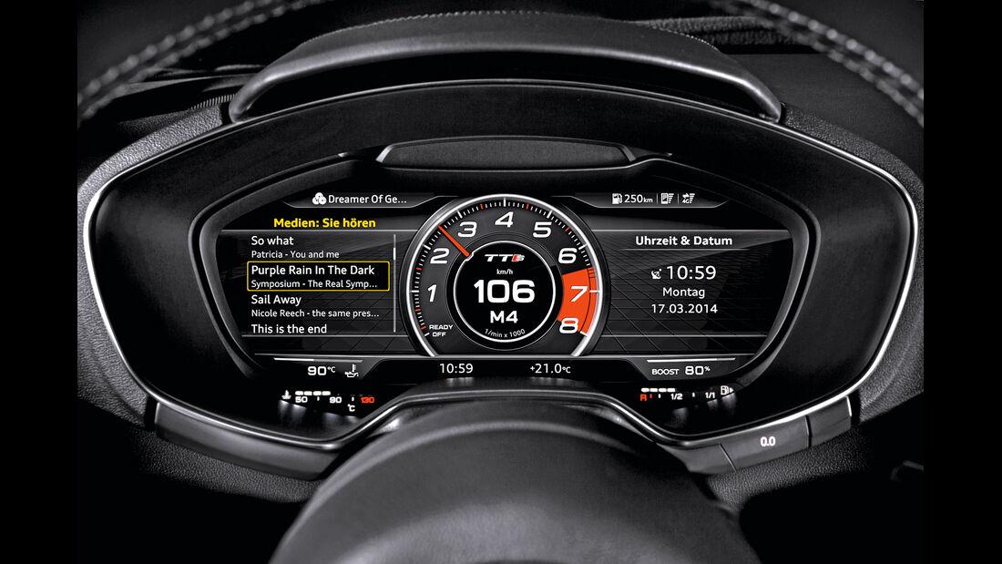Audi TT, Cockpit, Anzeige