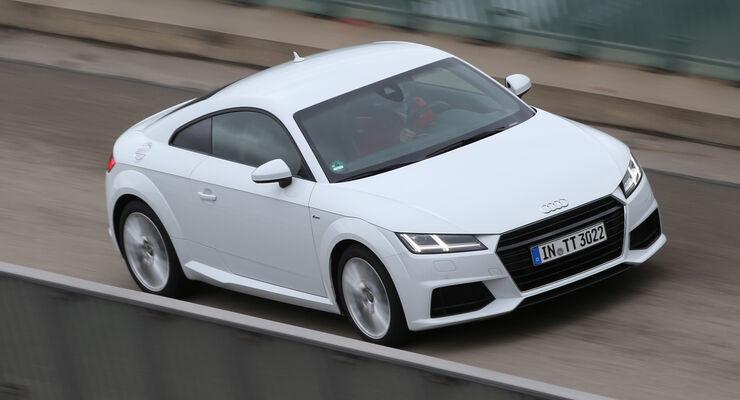 Audi TT Coupé 2.0 TDI, Draufsicht