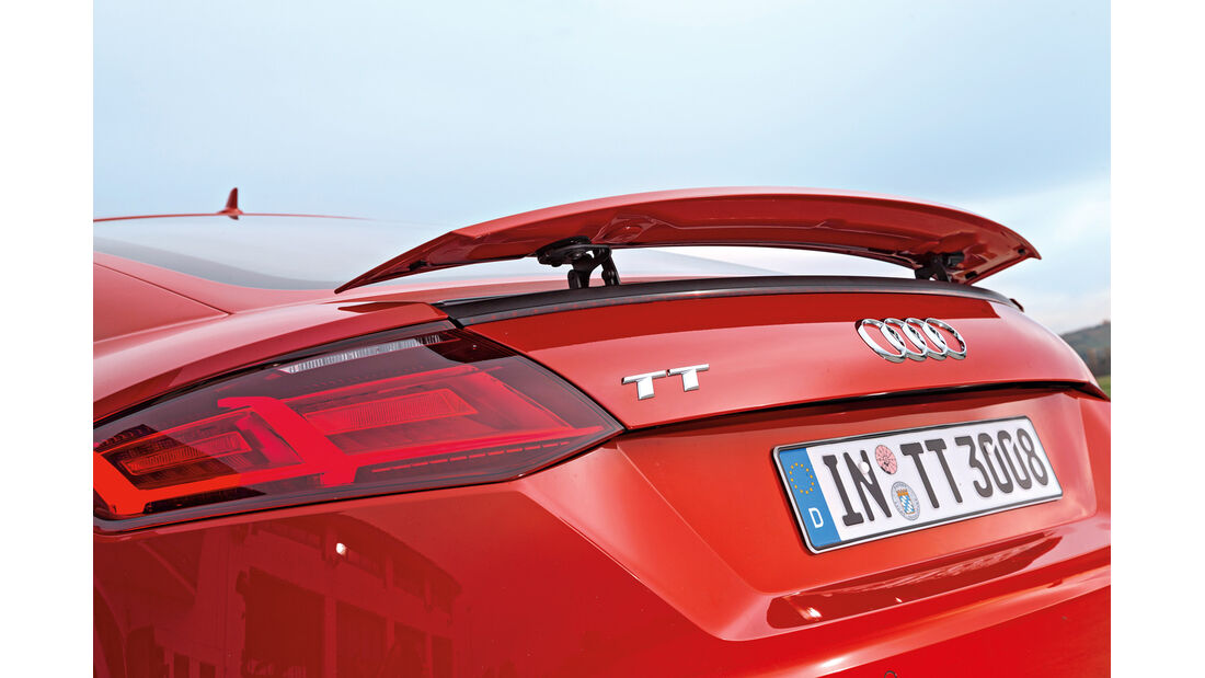 Audi TT Coupé 2.0 TFSI, Heckflügel