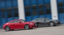 Audi TT Coupé 2.0 TFSI, Porsche Cayman, Seitenansicht