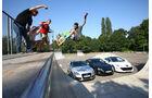Audi TT, Peugeot RCZ, Subaru BRZ, Frontansicht, Halfpipe