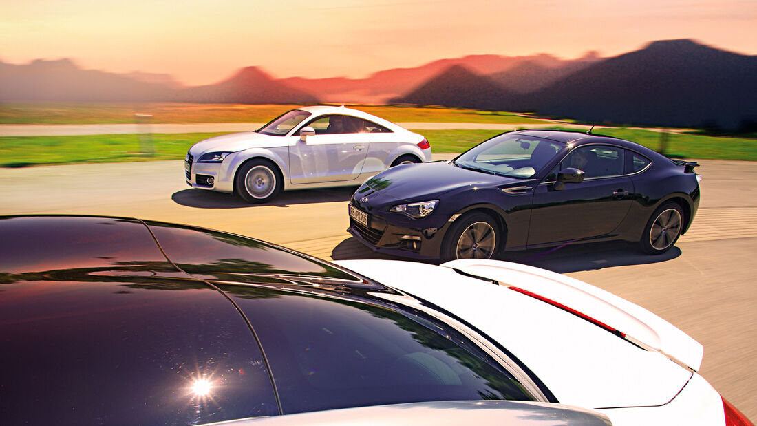 Audi TT, Peugeot RCZ, Subaru BRZ, Seitenansicht