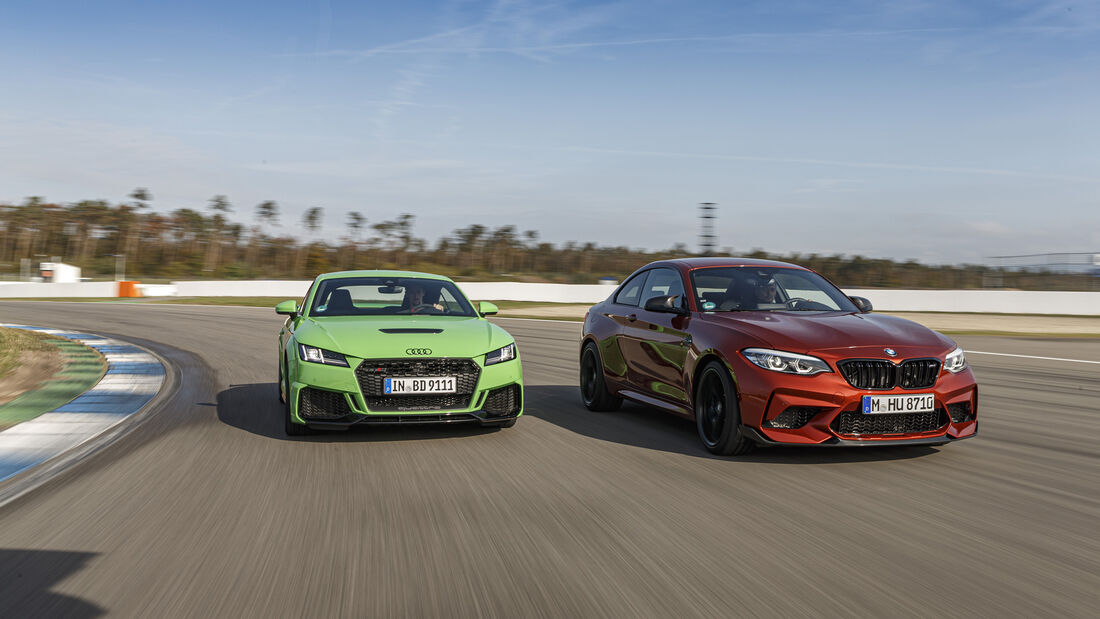 Audi TT RS, BMW M2 Competition, Exterieur