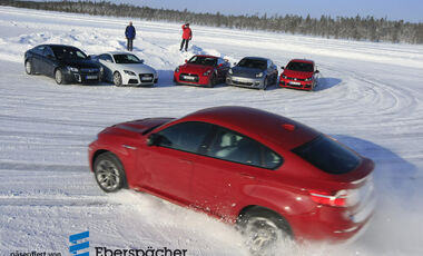 Audi TT RS, BMW X6 M, Nissan GT-R, Opel Insignia OPC, Porsche Panamera 4S, VW Golf R