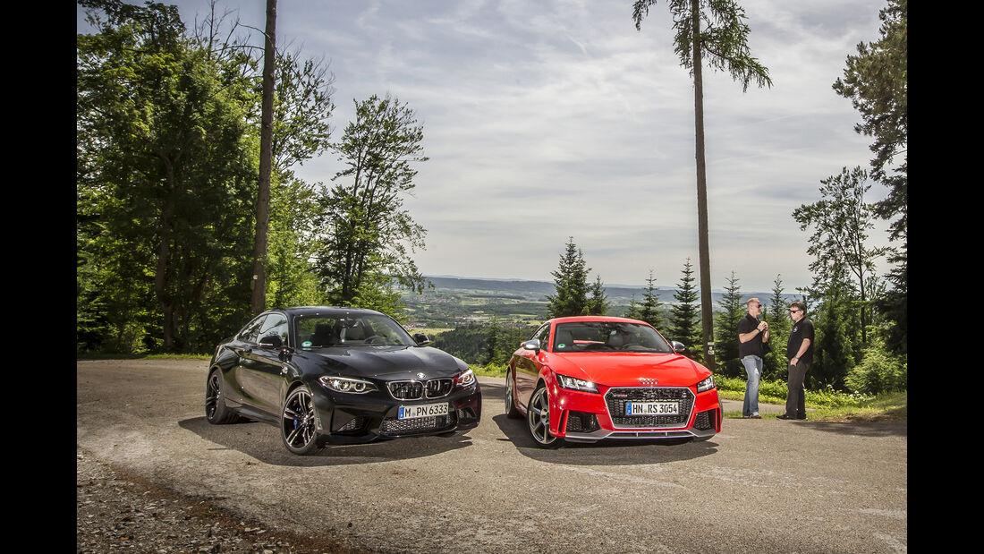 Audi TT RS Coupé, BMW M2 Coupé, Außenansicht