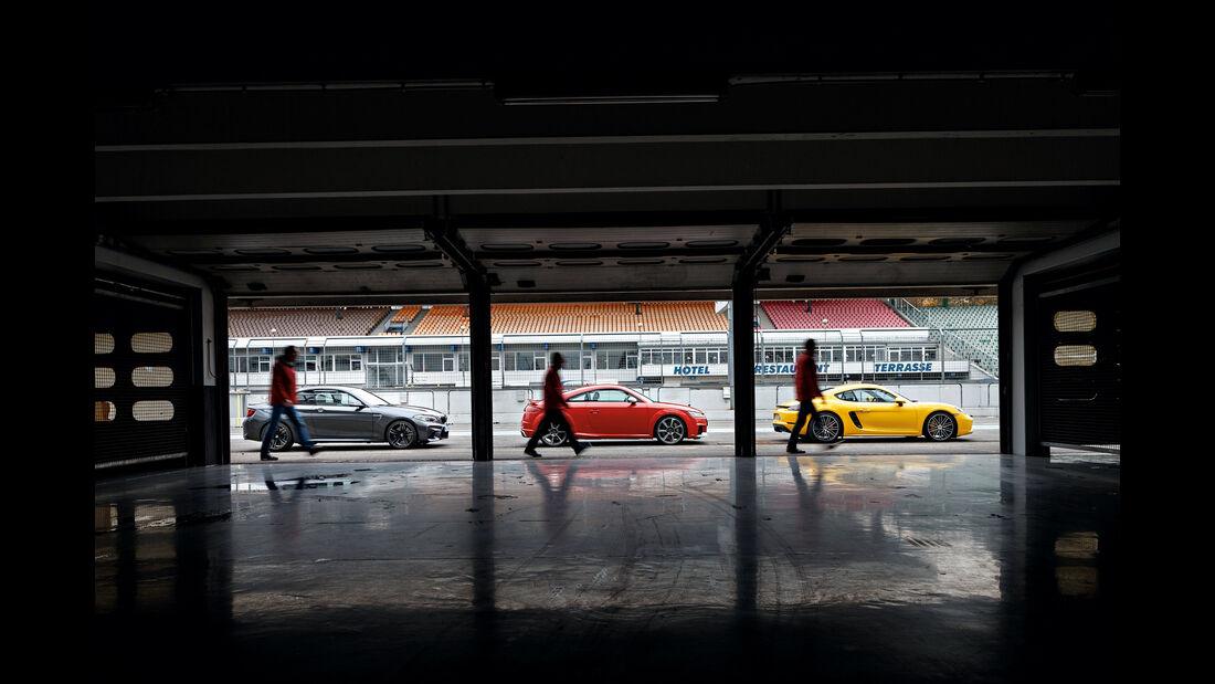 Audi TT RS Coupé, BMW M2 Coupé, Porsche 718 Cayman S
