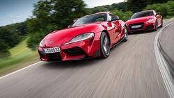 Audi TT RS Coupe, Toyota GR Supra, Exterieur