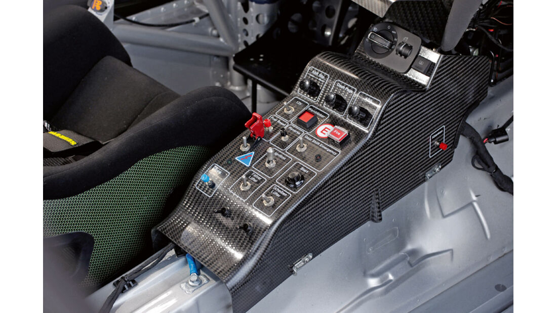 Audi TT RS, Mittelkonsole