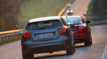 Audi TT RS Plus, Mercedes A 45 AMG, Heckansicht