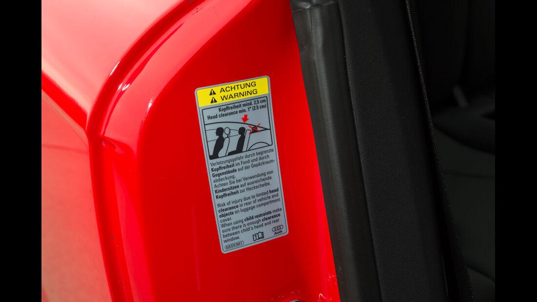 Audi TT RS Plus, Warnhinweis