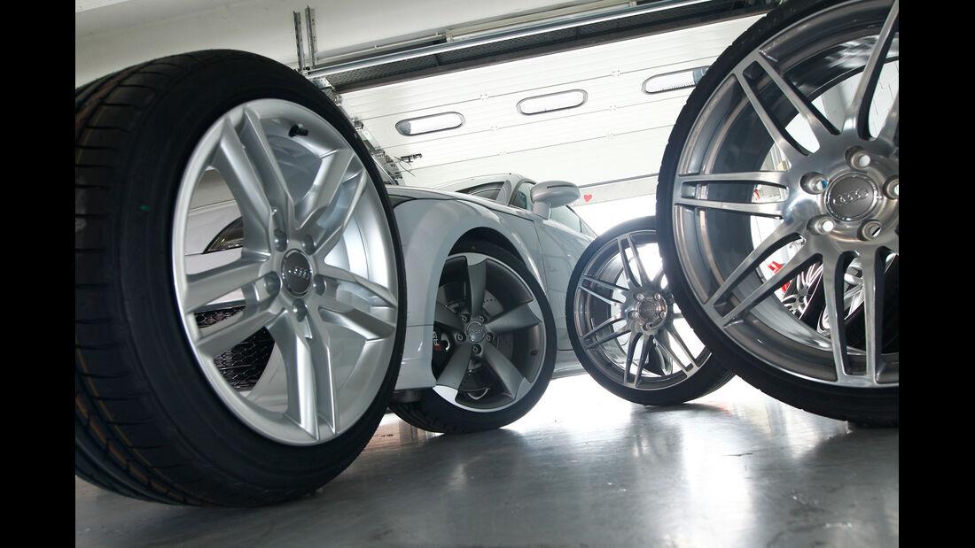 Audi TT RS, Reifen, Felgen