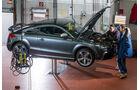 Audi TT RS, Seitenansicht, Hebebühne