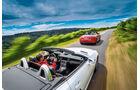 Audi TT Roadster 2.0 TFSI, Mercedes SLC 300, Heckansicht