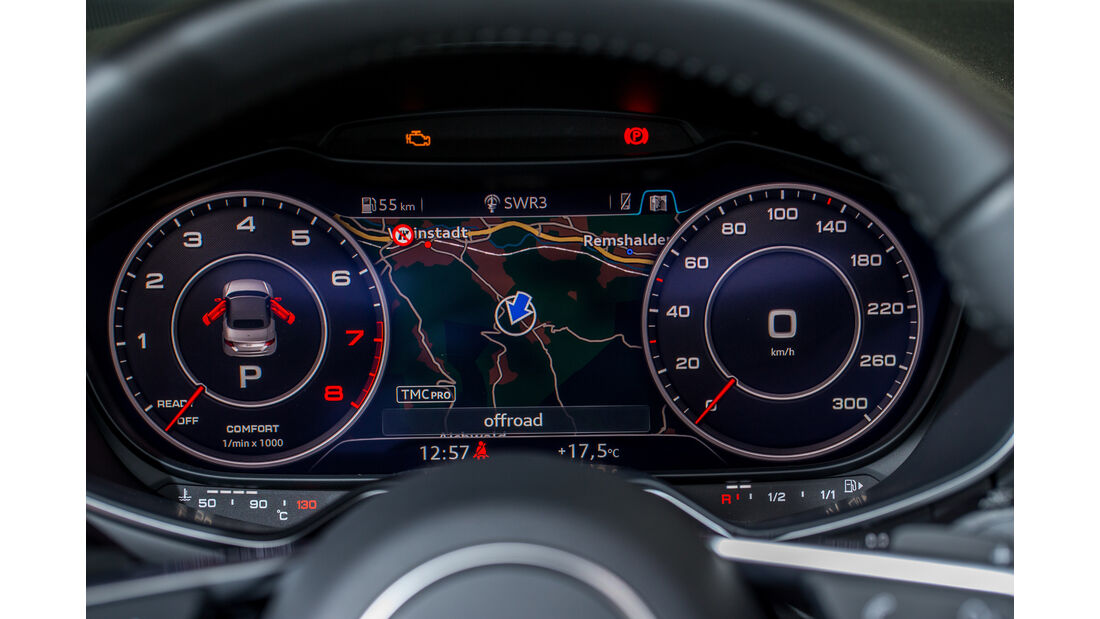 Audi TT Roadster 2.0 TFSI, Rundinstrumente