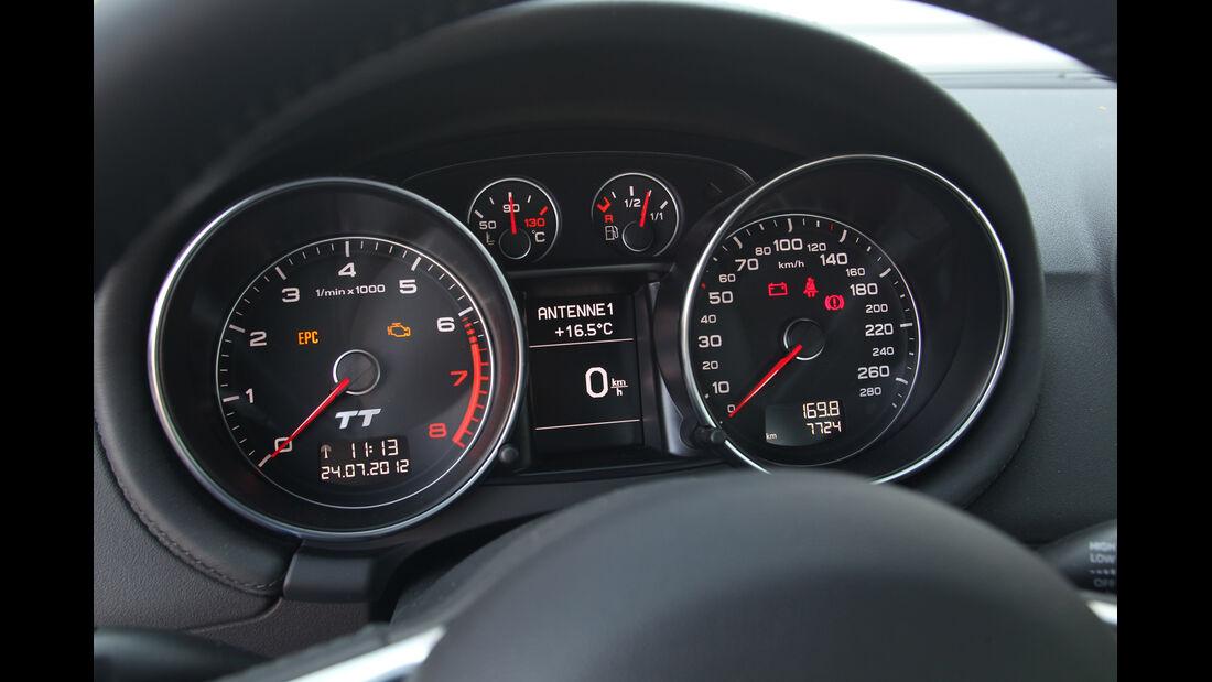 Audi TT, Rundinstrumente, Tacho