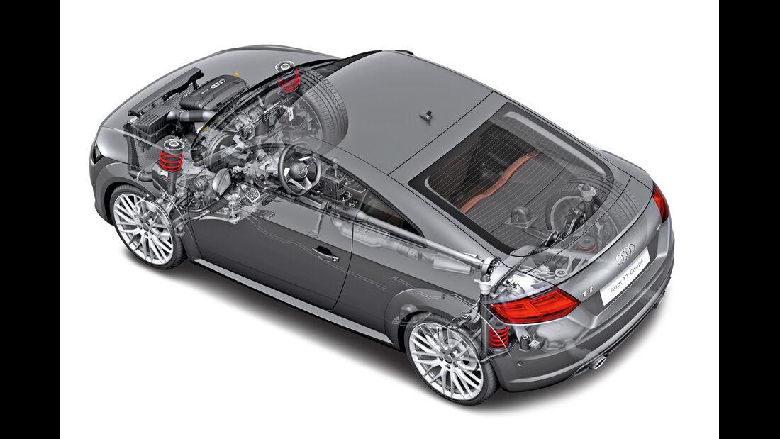 Audi TT, Zeichnung, Antrieb