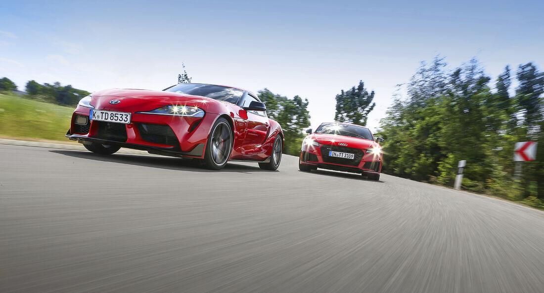 Audi TTS Competition, Toyota GR Supra, Exterieur