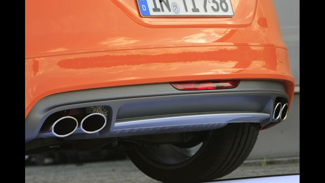 Audi TTS Coupé 2.0 TFSI, Auspuff