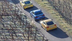 Audi TTS Coupé, BMW M240i Coupé, Porsche 718 Cayman