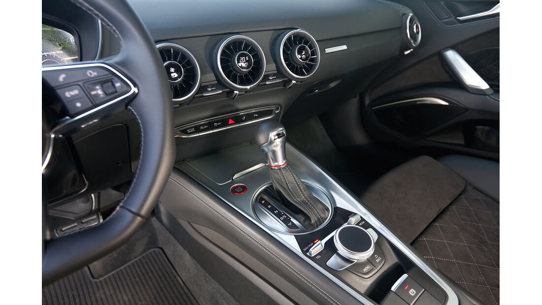 Audi TTS, Mittelkonsole