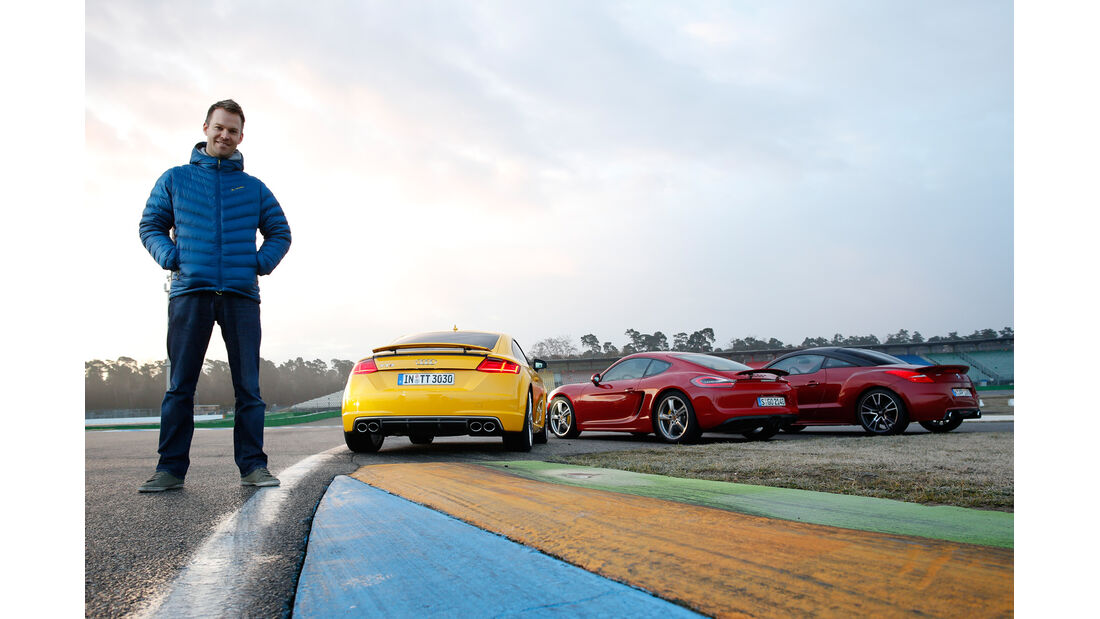 Audi TTS, Peugeot RCZ R, Porsche Cayman GTS, Christian Gebhardt