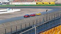 Audi TTS, Peugeot RCZ R, Porsche Cayman GTS, Heckansicht