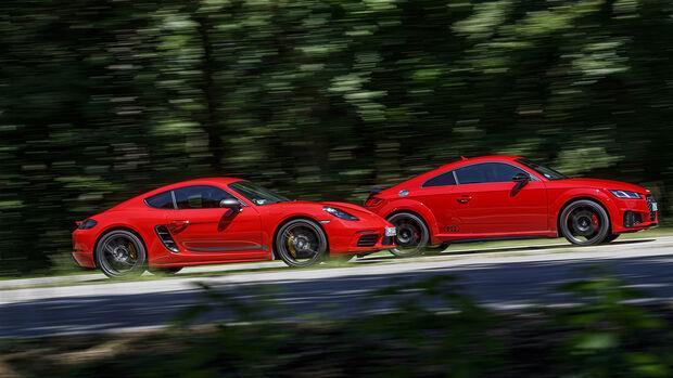 Audi TTS, Porsche 718 Cayman T, Exterieur