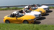 Audi TTS Roadster, BMW Z4 35i, Mercedes SLK 350, Porsche Boxter S