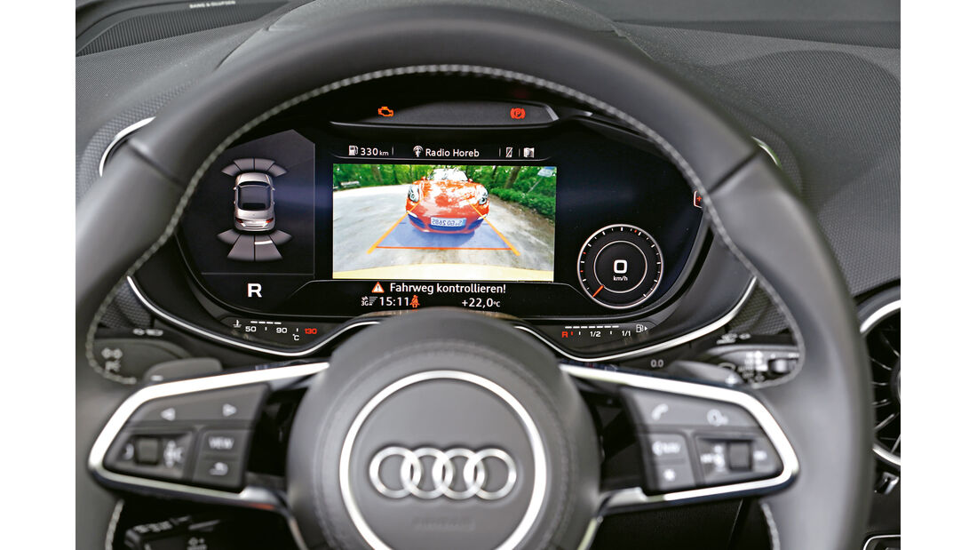Audi TTS Roadster, Display