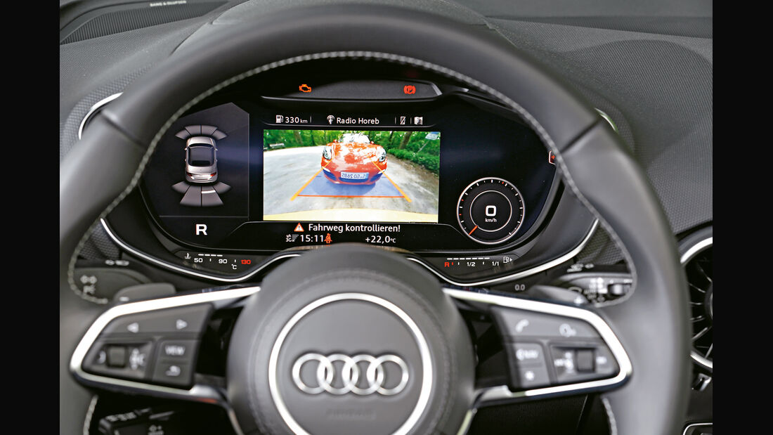 Audi TTS Roadster, Display