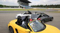 Audi TTS Roadster, Mercedes-AMG SLC 43, Porsche 718 Boxster, Seitenansicht