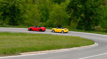 Audi TTS Roadster, Porsche Boxster S, Seitenansicht