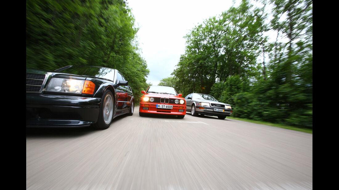 Audi V8, BMW M 3, Mercedes 190 E 2.5-16 Evo II, Kühlergrill