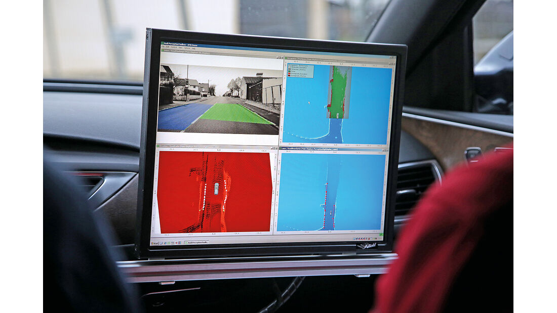 Audi auf der CES 2015, Sensoren, Assistenzsysteme