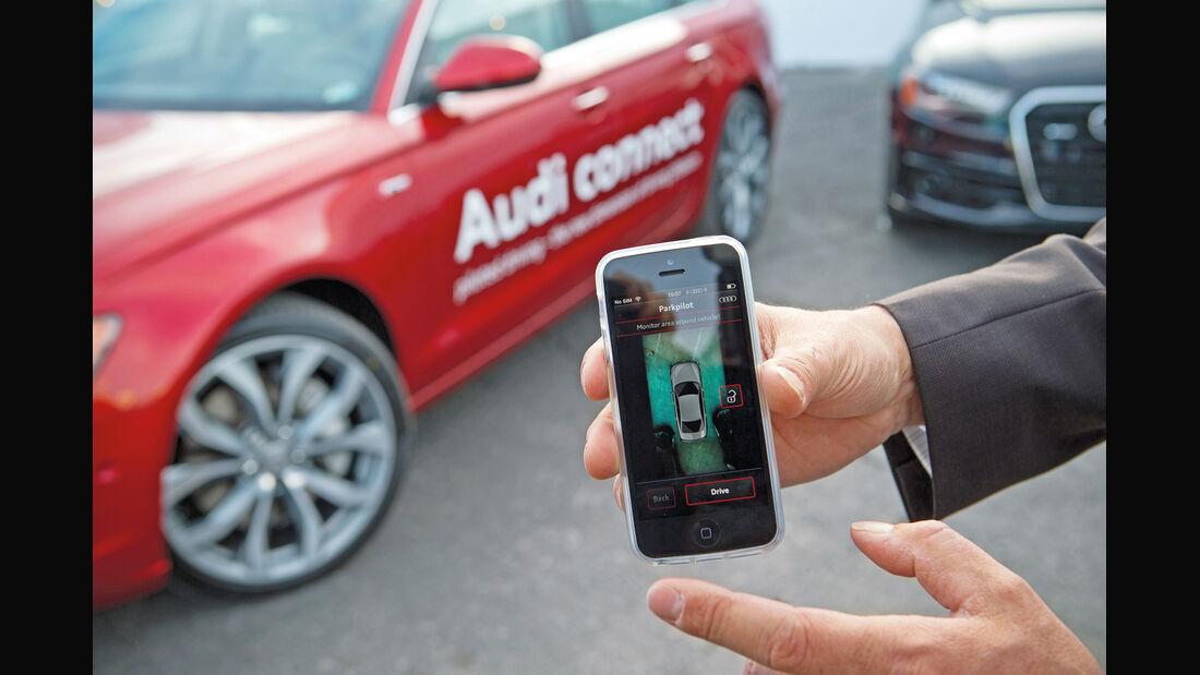 Audi connect, Testwagen, Smartphone