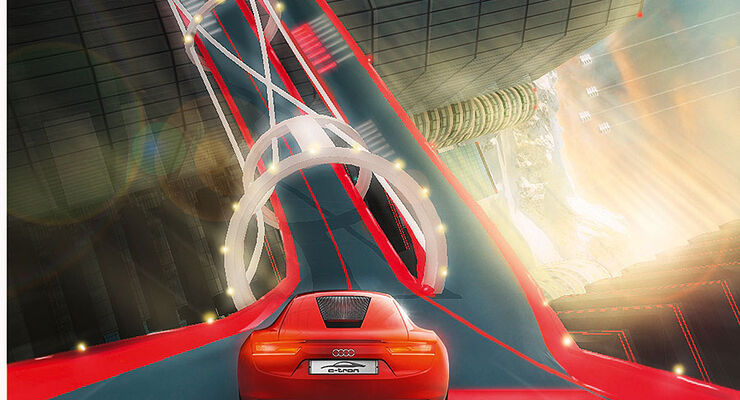 Audi e-tron Computerspiel Vertical Run