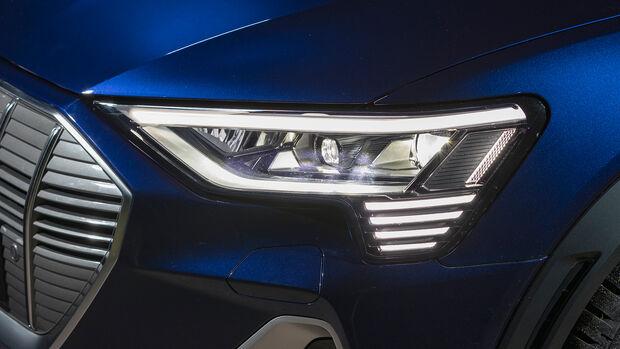 Audi e-tron Sportback, Lichttest