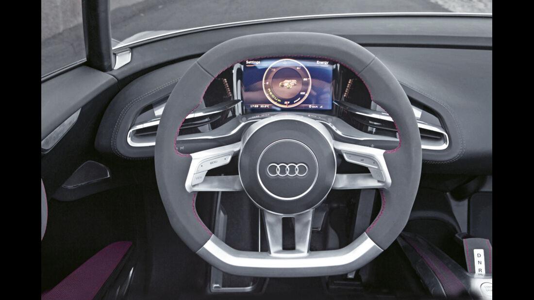Audi e-tron Spyder, Lenkrad