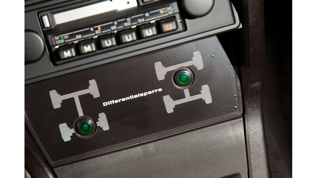 Audi quattro, Bedienelemente