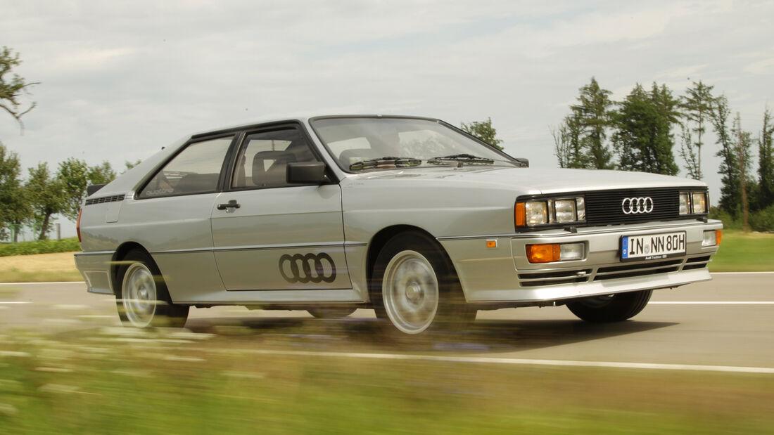 Audi quattro, Seitenansicht